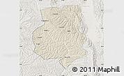 Shaded Relief Map of Xiji, lighten