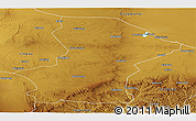 Physical Panoramic Map of Yanchi