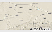 Shaded Relief Panoramic Map of Yanchi