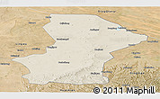 Shaded Relief Panoramic Map of Yanchi, satellite outside