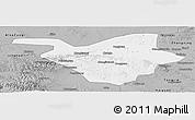 Gray Panoramic Map of Zhongwei