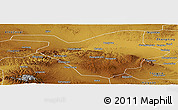Physical Panoramic Map of Zhongwei