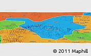 Political Panoramic Map of Zhongwei