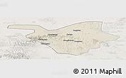 Shaded Relief Panoramic Map of Zhongwei, lighten