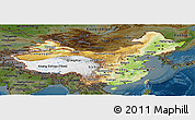 Physical Panoramic Map of China, darken