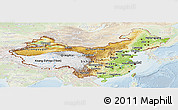 Physical Panoramic Map of China, lighten