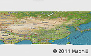 Satellite Panoramic Map of China