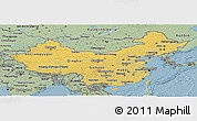 Savanna Style Panoramic Map of China