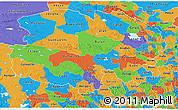 Political 3D Map of Qinghai