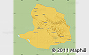 Savanna Style Map of Daqaidam, single color outside