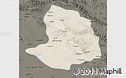Shaded Relief Map of Daqaidam, darken