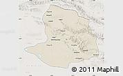 Shaded Relief Map of Daqaidam, lighten