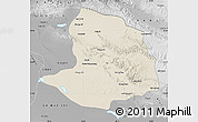 Shaded Relief Map of Daqaidam, physical outside