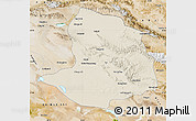 Shaded Relief Map of Daqaidam, satellite outside