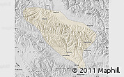 Shaded Relief Map of Datong, desaturated