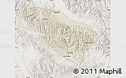 Shaded Relief Map of Datong, lighten