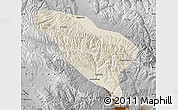 Shaded Relief Map of Datong, physical outside
