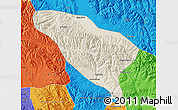 Shaded Relief Map of Datong, political outside