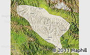 Shaded Relief Map of Datong, satellite outside