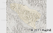 Shaded Relief Map of Datong, semi-desaturated