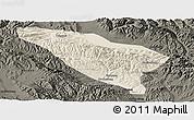 Shaded Relief Panoramic Map of Datong, darken