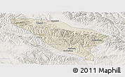 Shaded Relief Panoramic Map of Datong, lighten