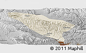 Shaded Relief Panoramic Map of Datong, physical outside
