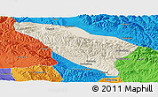 Shaded Relief Panoramic Map of Datong, political outside