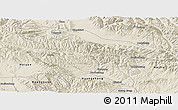 Shaded Relief Panoramic Map of Datong