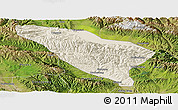 Shaded Relief Panoramic Map of Datong, satellite outside