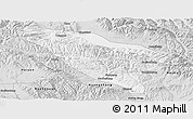 Silver Style Panoramic Map of Datong