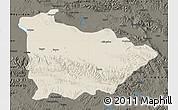 Shaded Relief Map of Dulan, darken