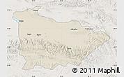 Shaded Relief Map of Dulan, lighten