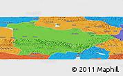Political Panoramic Map of Dulan