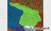 Political Map of Gangca, darken
