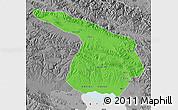 Political Map of Gangca, desaturated
