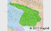 Political Map of Gangca, lighten