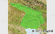 Political Map of Gangca, satellite outside