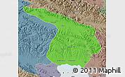 Political Map of Gangca, semi-desaturated