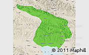 Political Map of Gangca, shaded relief outside