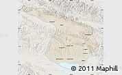 Shaded Relief Map of Gangca, lighten