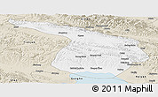 Classic Style Panoramic Map of Gangca