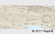 Shaded Relief Panoramic Map of Gangca