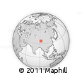 Outline Map of Golmud Shi