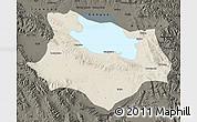 Shaded Relief Map of Gonghe, darken