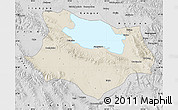 Shaded Relief Map of Gonghe, desaturated