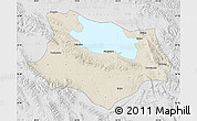 Shaded Relief Map of Gonghe, lighten, desaturated