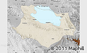 Shaded Relief Map of Gonghe, physical outside
