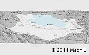 Gray Panoramic Map of Gonghe