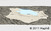 Shaded Relief Panoramic Map of Gonghe, darken